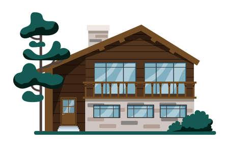 wooden cottage modern architecture