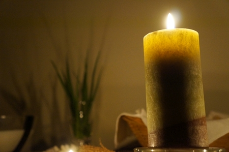 Candles on the altar, selective focus on candle, candlelight time Stock Photo - 36170232