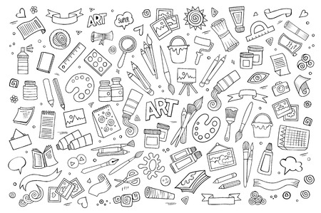 Craft Supplies Cliparts Stock Vector And Royalty Free Craft Supplies Illustrations