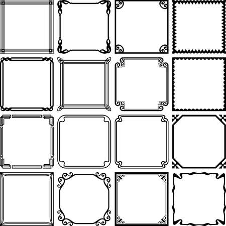 Decorative simple frames also border stock photos and images rf rh