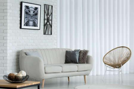 simple bright sitting room