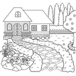 House Garden Cliparts Stock Vector And Royalty Free House Garden Illustrations