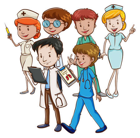 Doctors and nurses working together Stock Vector - 40710878
