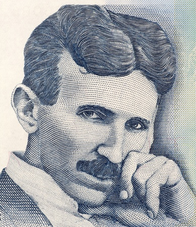 tesla: Nikola Tesla on 100 Dinara 2006 Banknote from Serbia. Best known as the Father of Physics. Stock Photo