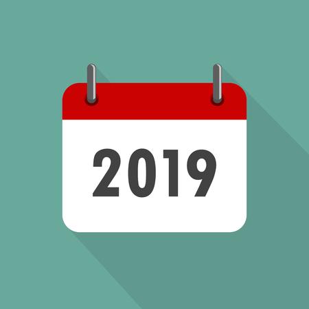 calendar icon 2019 in