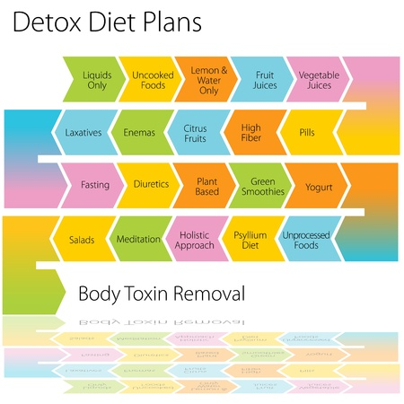 FASTING ICONS: An image of a detox diet plan chart.
