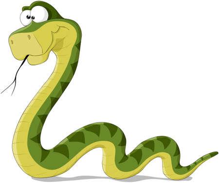 Serpent Illustration De Bande Dessinee Dun Serpent Vert Illustration