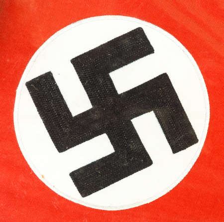 Beautiful close up of a German WWII swastika on a piece of fabric from the war Stock Photo - 100580180
