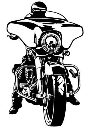Harley Davidson Clipart : harley, davidson, clipart, Harley, Rider, Stock, Vector, Illustration, Royalty, Clipart