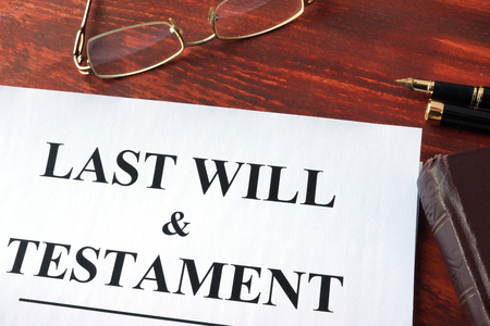 Last Will & Testament Form On A Table. Stock Photo, Picture And ...