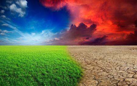 Ecology landscape - climate change concept, desert invasion Stock Photo - 12635713