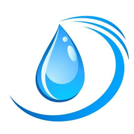 signe goutte d'eau Banque d'images - 18257329