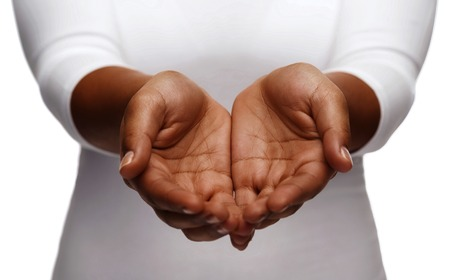 hands cupped stock photos
