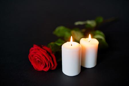 memorial candle stock photos