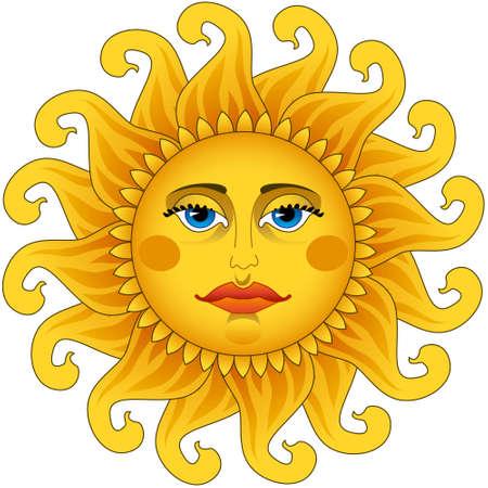 Big hot gold sun  Stock Vector - 23547480