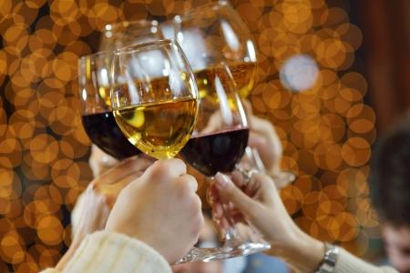 wine toast stock photos