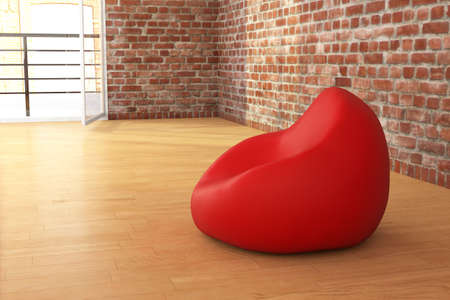 beanbag: Bean sack in loft and hardwooden floor