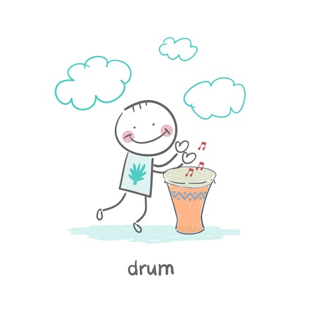 Man Drumming Stock Photo - 18716839