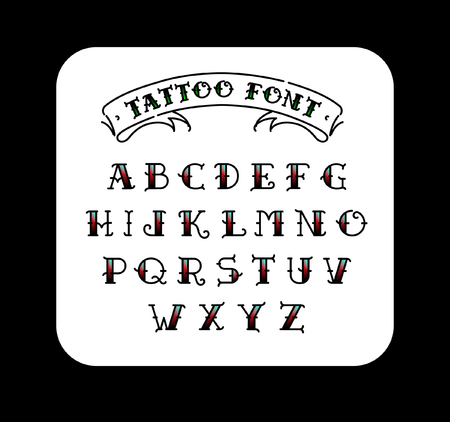 Traditional Tattoo Lettering Font