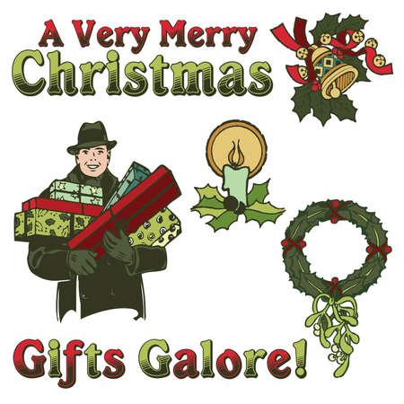 Vintage Christmas Elements 2