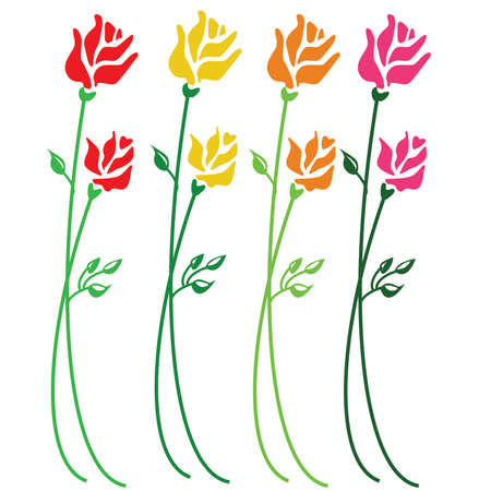 Colorful simple Roses