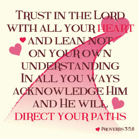 Proverbs 3:5-6 Inspirational Scripture Typography on Light Background