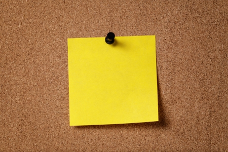 yellow reminder sticky note