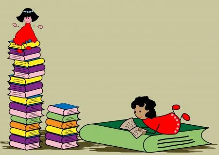 Reading Book  Stock Vector - 24686954