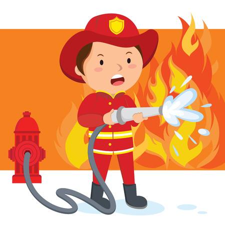 fireman cartoon stock photos
