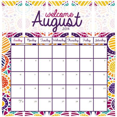 calendar design over pattern background vector illustration Stock Vector - 23167708