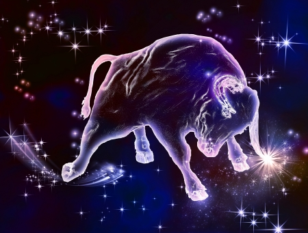 Powerful beauty, beautiful force, that what the sign of Taurus is April and May are the months of Bull Enjoy this amazing astrological animal Stock Photo - 20428929
