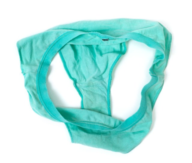 Green Underpants Isolated On White Background Stock Photo