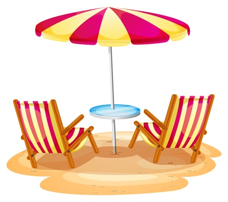 beach chair and umbrella clipart captain style dining chairs 15 099 stock illustrations cliparts royalty free illustration of a stripe the two wooden on white background