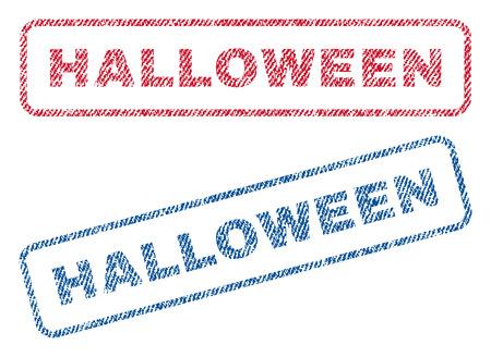 halloween text textile seal