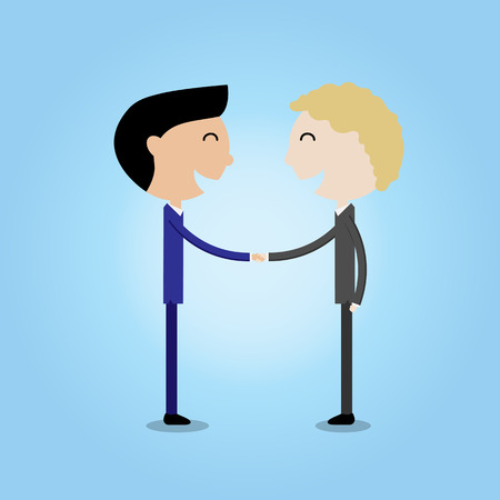 young businessman making handshake cooperation concept-vector Stock Vector - 42167922