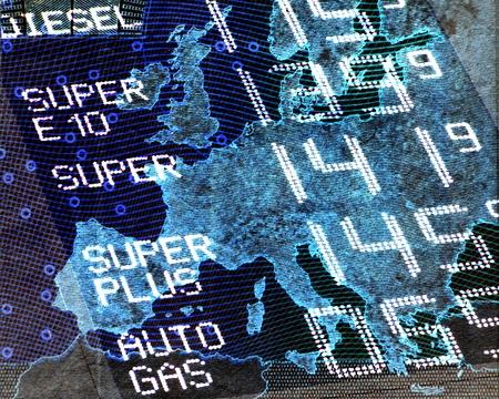 ヨーロッパ - ヨーロッパの地図でガソリン価格を盛り半透明燃料価格 ...