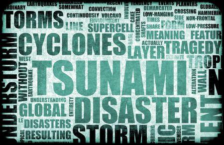tsunami: Tsunami Natural Disaster as a Art Background
