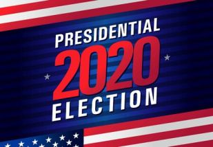 Presidential Election Day USA 2020. Vote In USA, Banner Design ...