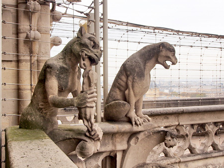 chimeras: Chimeras of Notre Dame Cathedral, Paris, France