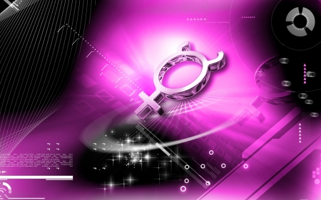 Digital illustration of Planet symbol in colour background Stock Illustration - 13833673