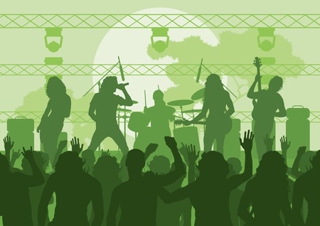 Rock concert landscape background illustration Stock Vector - 12045301