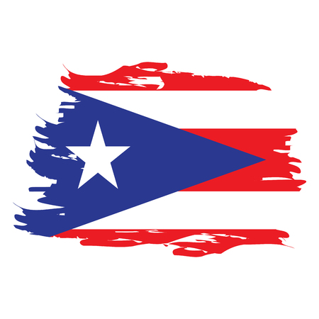 puerto rico flag stock