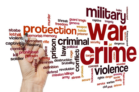 war: War crime concept word cloud background