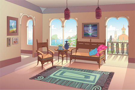 living room pictures clipart houzz four chairs 21 593 livingroom stock vector illustration and royalty free the light decorated in oriental style with a beautiful sea view eastern