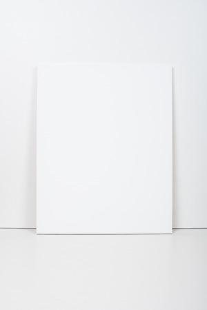 empty blank white canvas