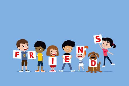 best friends cartoon stock