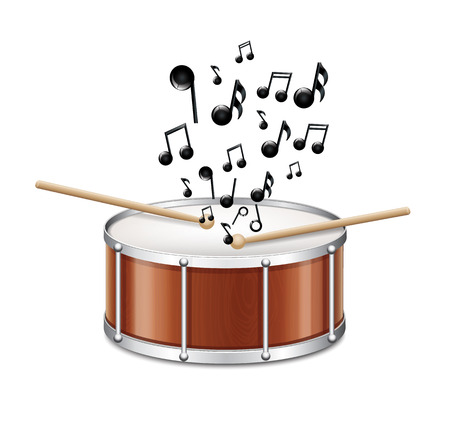 Drum With Melody  Stock Vector - 23993990
