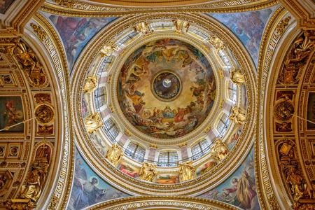 Decorazione interna della cupola principale di San Isacco Archivio Fotografico - 31981976