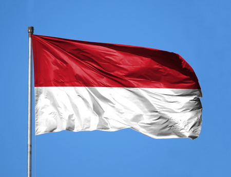 indonesian flag stock photos