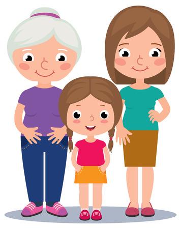 Stock illustration of three generations of women Stock Vector - 46569821
